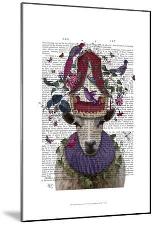 Sheep Birdkeeper-Fab Funky-Mounted Art Print
