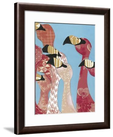 Flock of Flamingoes I-Jennifer Rutledge-Framed Art Print