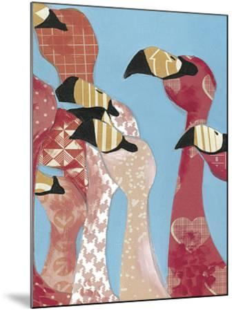 Flock of Flamingoes I-Jennifer Rutledge-Mounted Art Print