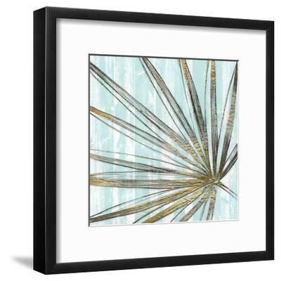 Beach Frond in Gold II-Jennifer Goldberger-Framed Art Print