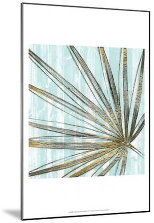 Beach Frond in Gold II-Jennifer Goldberger-Mounted Art Print