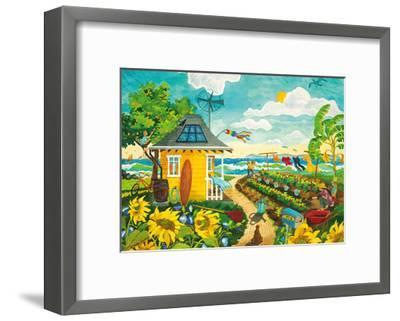 Happily Ever After - Tropical Paradise Beach House - Hawaii - Hawaiian Islands-Robin Wethe Altman-Framed Premium Giclee Print