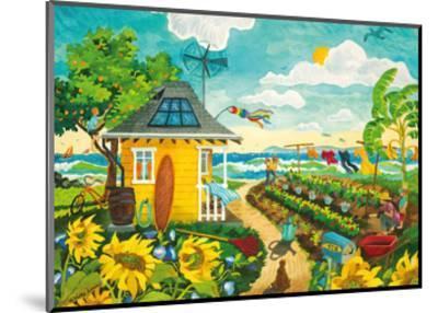 Happily Ever After - Tropical Paradise Beach House - Hawaii - Hawaiian Islands-Robin Wethe Altman-Mounted Premium Giclee Print