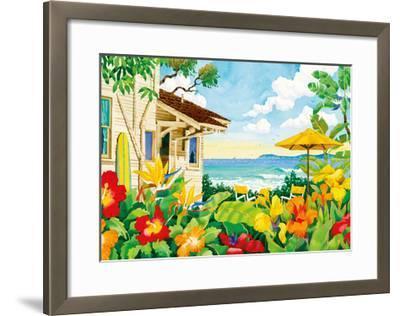 The Good Life - Tropical Beach House - Hawaii - Hawaiian Islands-Robin Wethe Altman-Framed Premium Giclee Print