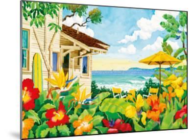 The Good Life - Tropical Beach House - Hawaii - Hawaiian Islands-Robin Wethe Altman-Mounted Premium Giclee Print