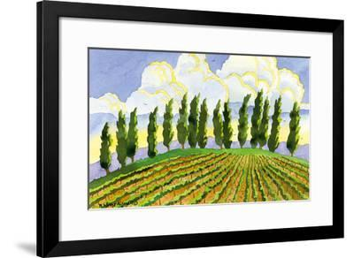 Cypress in the Clouds - Tuscany Italy - Italian Vineyards-Robin Wethe Altman-Framed Premium Giclee Print