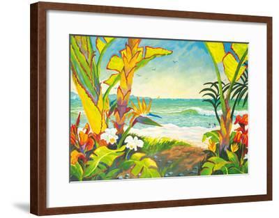 Time to Chill - Tropical Beach Paradise - Hawaii - Hawaiian Islands-Robin Wethe Altman-Framed Premium Giclee Print