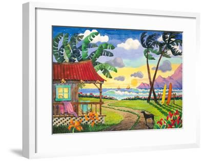 Sunset in Paradise - Tropical Beach - Hawaii - Hawaiian Islands-Robin Wethe Altman-Framed Premium Giclee Print