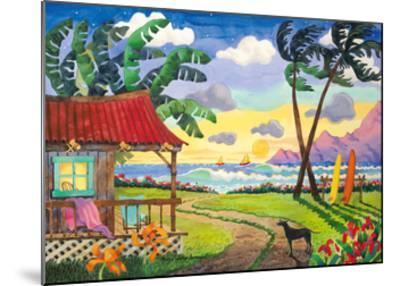 Sunset in Paradise - Tropical Beach - Hawaii - Hawaiian Islands-Robin Wethe Altman-Mounted Premium Giclee Print