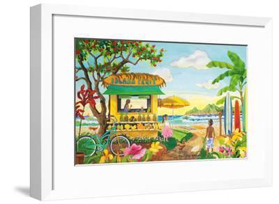 The Fruit Stand at the Beach - Tropical Paradise - Hawaii - Hawaiian Islands-Robin Wethe Altman-Framed Premium Giclee Print
