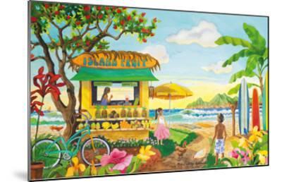 The Fruit Stand at the Beach - Tropical Paradise - Hawaii - Hawaiian Islands-Robin Wethe Altman-Mounted Premium Giclee Print