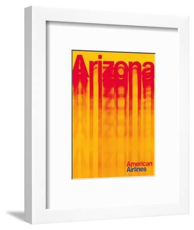 Arizona - American Airlines-Pacifica Island Art-Framed Art Print