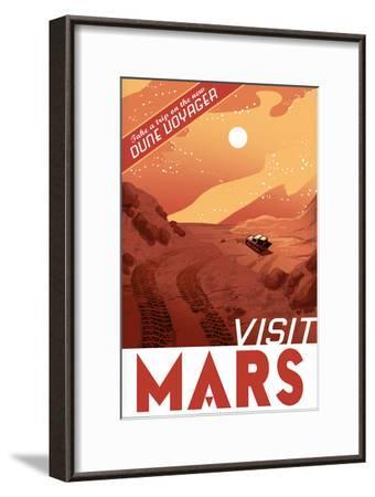 Visit Mars-Lynx Art Collection-Framed Art Print