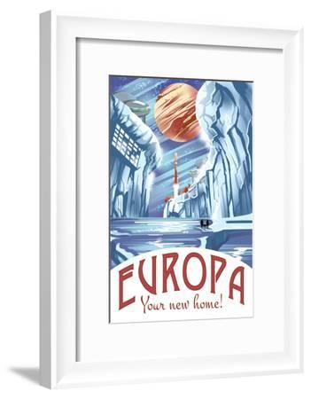 Europa Your New Home!-Lynx Art Collection-Framed Art Print