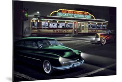 Diners and Cars II-Helen Flint-Mounted Art Print