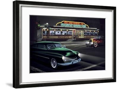 Diners and Cars II-Helen Flint-Framed Art Print