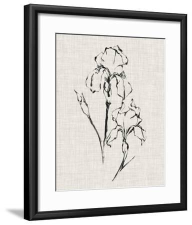 Floral Ink Study II-Ethan Harper-Framed Giclee Print