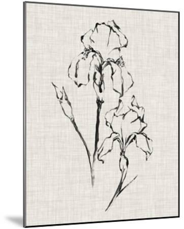 Floral Ink Study II-Ethan Harper-Mounted Giclee Print