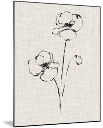 Floral Ink Study III-Ethan Harper-Mounted Giclee Print