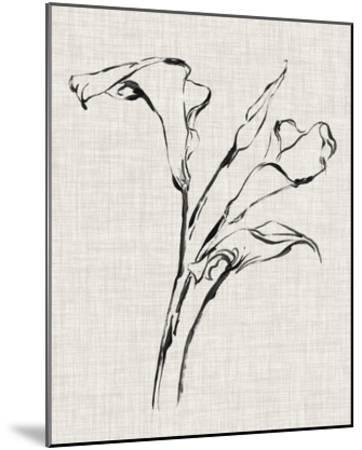 Floral Ink Study IV-Ethan Harper-Mounted Giclee Print