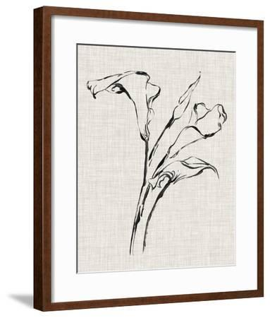 Floral Ink Study IV-Ethan Harper-Framed Giclee Print