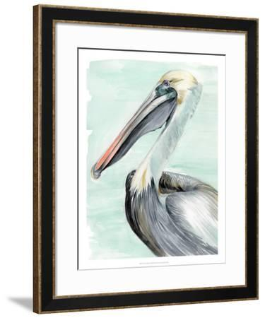 Turquoise Pelican II-Jennifer Paxton Parker-Framed Giclee Print