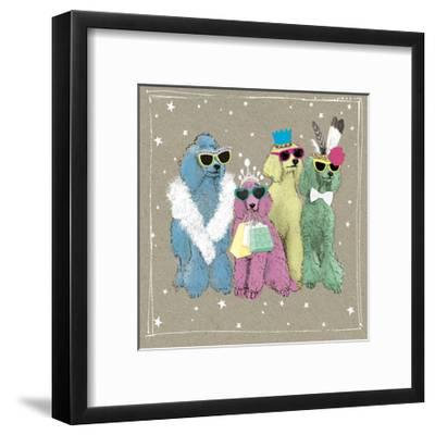 Fancypants Wacky Dogs II-Hammond Gower-Framed Art Print