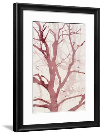 Arbres (Rouge), 2015-Marie-Cecile Clause-Framed Giclee Print