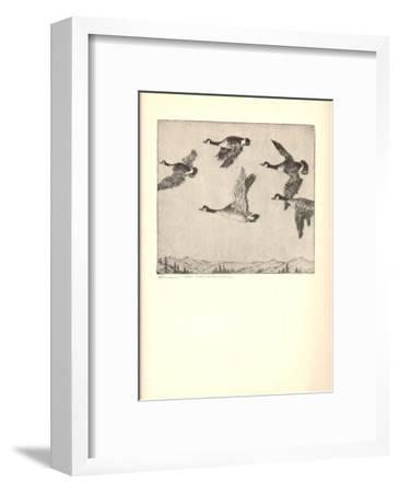Southbound Geese-Benson B Moore-Framed Lithograph