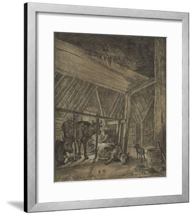 A Cow Calving-Paul Potter-Framed Lithograph