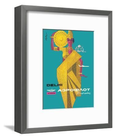 Delhi, India - Aeroflot Soviet Airlines-Victor Asseriants-Framed Art Print