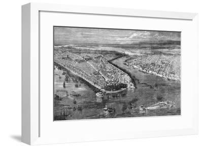 The City of New York, 1855-The Vintage Collection-Framed Giclee Print