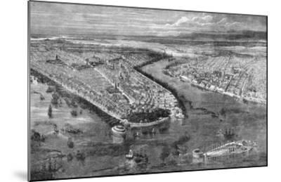 The City of New York, 1855-The Vintage Collection-Mounted Giclee Print