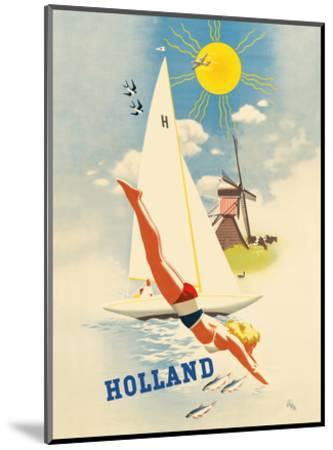 Holland - Dutch Windmill-Jan Wijga-Mounted Art Print
