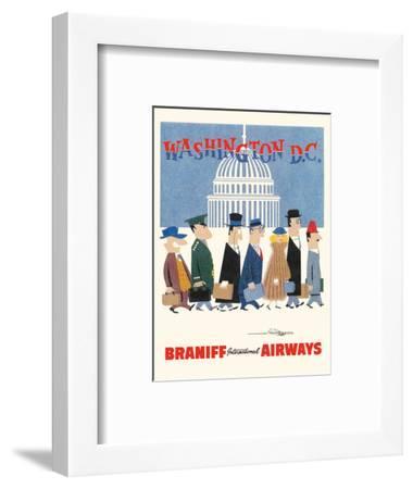Washington D.C. - Braniff International Airways-Unknown-Framed Art Print