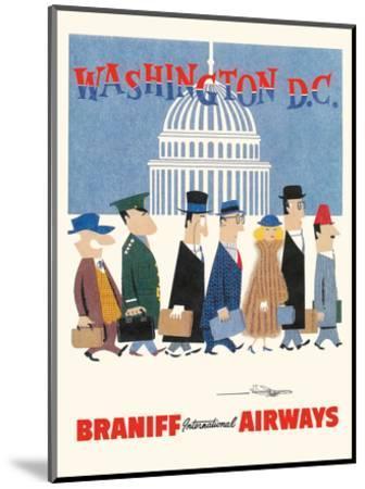 Washington D.C. - Braniff International Airways-Unknown-Mounted Art Print