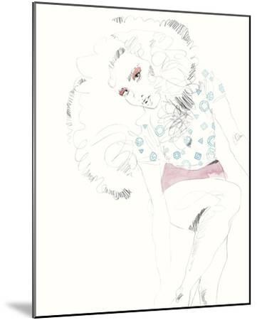 The Girl - Glam-Aurora Bell-Mounted Giclee Print