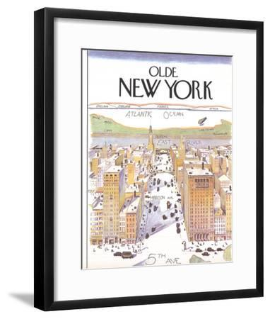 Olde New York (Small)-Unknown-Framed Art Print