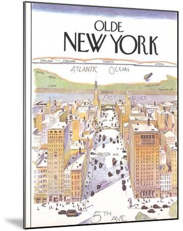 Olde New York (Small)-Unknown-Mounted Art Print