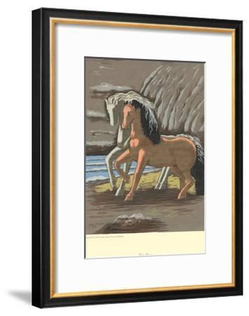 Two Horses-Giorgio De Chirico-Framed Serigraph