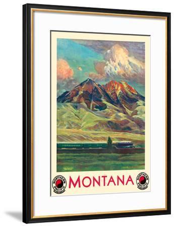 Montana - Absaroka Mountains - North Coast Limited - Northern Pacific Railway-Gustav Wilhelm Krollmann-Framed Premium Giclee Print