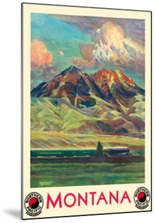 Montana - Absaroka Mountains - North Coast Limited - Northern Pacific Railway-Gustav Wilhelm Krollmann-Mounted Premium Giclee Print