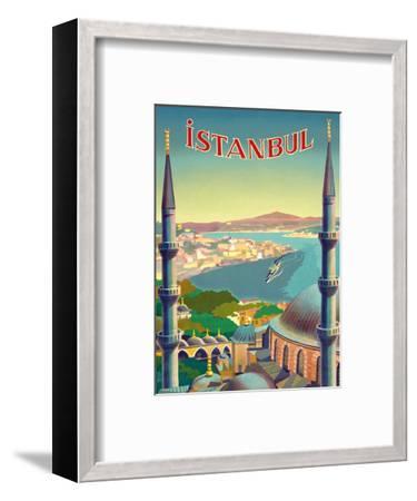 Istanbul, Turkey - Through the Minarets of a Mosque-Tar?k Uzmen-Framed Art Print