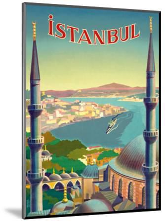 Istanbul, Turkey - Through the Minarets of a Mosque-Tar?k Uzmen-Mounted Art Print