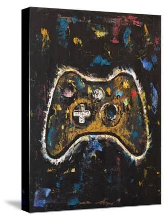Video Gamer-Michael Creese-Stretched Canvas Print