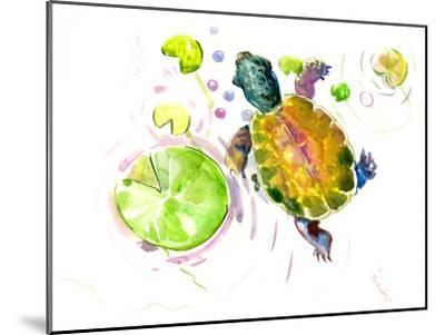 Baby Turtle Lotus-Suren Nersisyan-Mounted Art Print