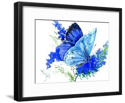 Holly Blue Butterfly 1-Suren Nersisyan-Framed Art Print