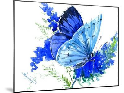 Holly Blue Butterfly 1-Suren Nersisyan-Mounted Art Print