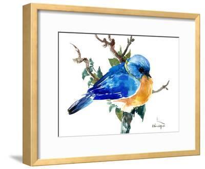 Bluebird-Suren Nersisyan-Framed Art Print