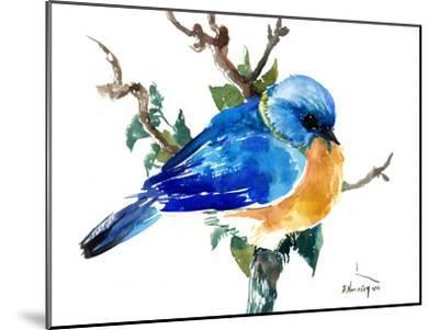 Bluebird-Suren Nersisyan-Mounted Art Print